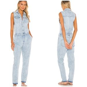 NWT Free People Fast Cars One Piece Denim Jumpsuit